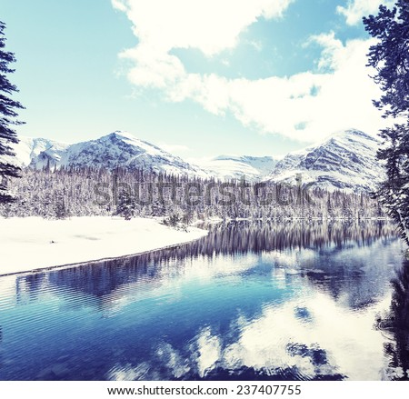 Glacier National Park, Montana. Winter. - stock photo