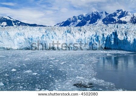 Glacier Water Blue Cold Ice Global Warming Series 08 - stock photo