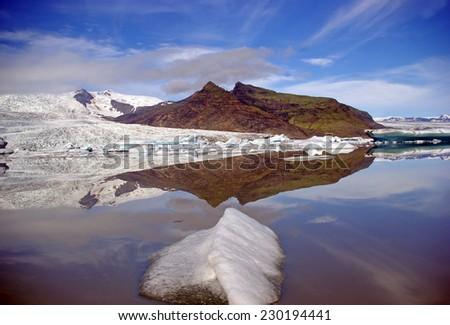 Glacierlagoon in Iceland - stock photo