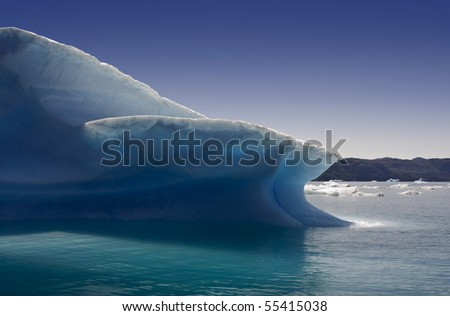 Glaciers and icebergs of Greenland 1 - stock photo