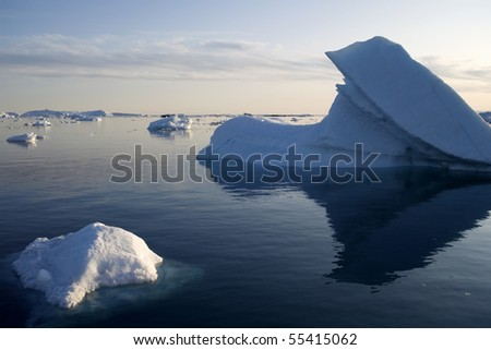 Glaciers and icebergs of Greenland 9 - stock photo