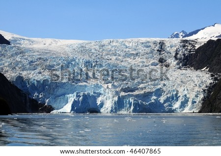 Glaciers in the Kenai Fjords National Park in Alaska