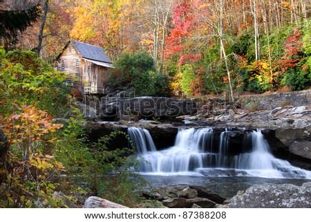Glade creek grist mil - stock photo