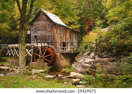 Glade Creek Grist Mill - stock photo