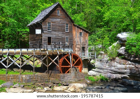 Glade Creek Grist Mill in West Virginia , USA - stock photo
