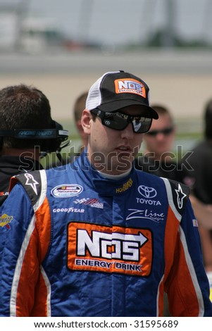 GLADEVILLE, TN - JUNE 6:Kyle Busch prepares to qualify at the Federated Auto Parts 300 at Nashville Superspeedway, June 6, 2009