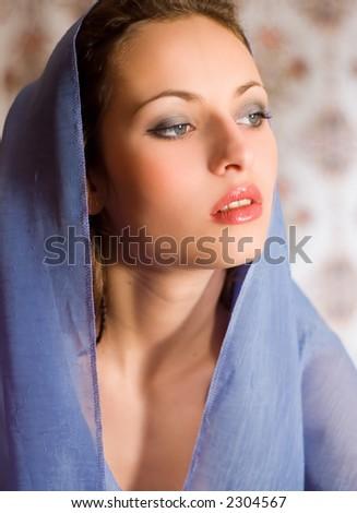 glamor portrait - stock photo