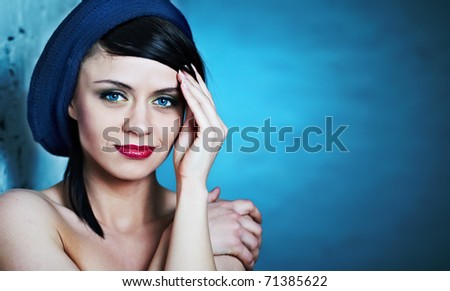 Glamor portrait of a  beautiful woman - stock photo