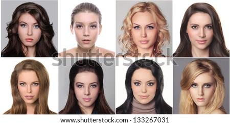 Glamor portrait of a beautiful women - stock photo