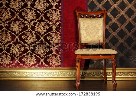Glamorous chair in luxury room - stock photo