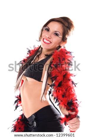 Glamorous dancer. - stock photo