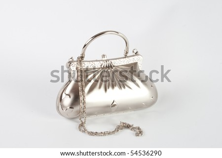 glamorous ladies' handbag - stock photo