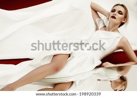 Glamorous woman - stock photo