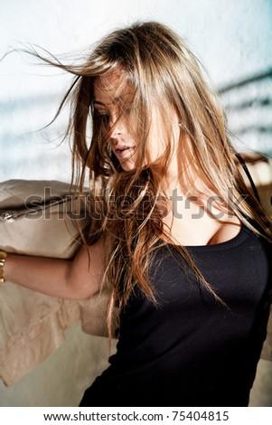 Glamorous young woman - stock photo