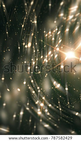 Glamour abstract background green illustration with glitter.