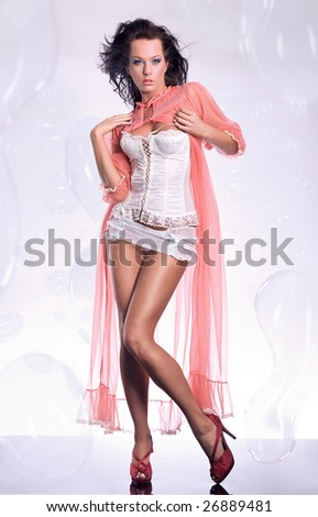 Glamour girl - stock photo