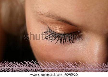 glamour girl eye - stock photo