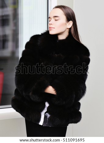 Glamour girl in fur