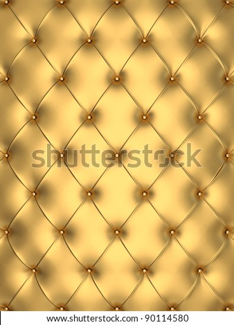 glamour golden  interior decorating background - stock photo