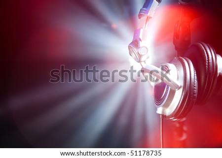 glamour headphones - stock photo