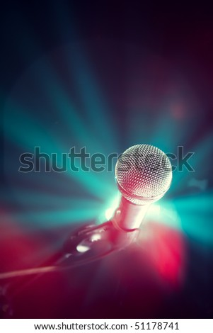 glamour microphone - stock photo