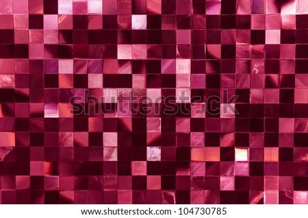 Glamour mosaic disco pattern - stock photo