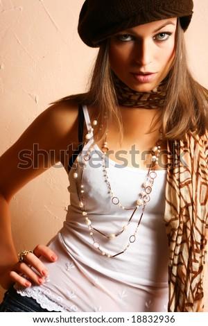 Glamour Party Girl. Fashion Photo - stock photo