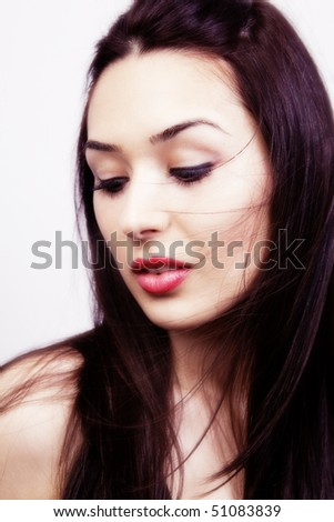 Glamour portrait of sensual sexy young woman