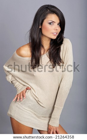 Glamour Portrait of sexy woman - stock photo