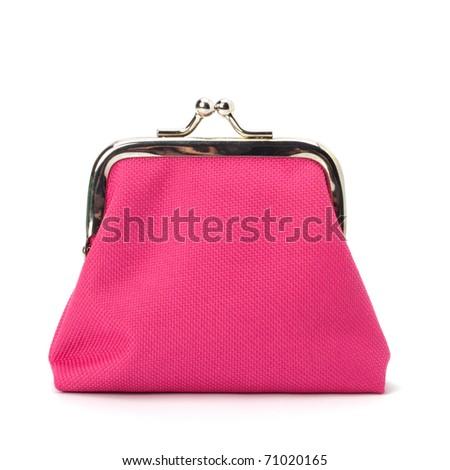 Glamour purse  isolated on white background - stock photo