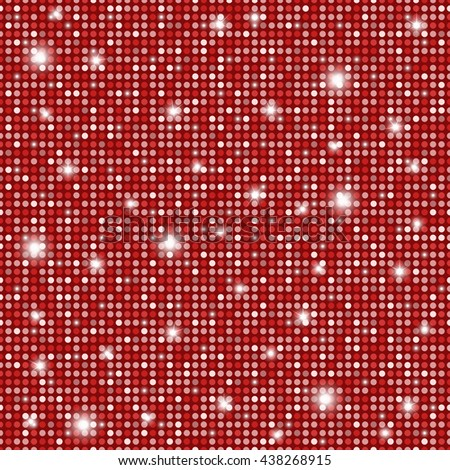 Glamour red and white shining rounds seamless texture background. Disco, luxury, information or network graphic design concept - stock photo