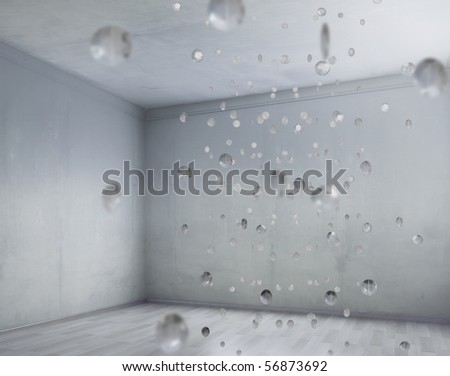 Glamour style starry interior - stock photo