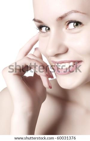 glamour woman. close-up - stock photo