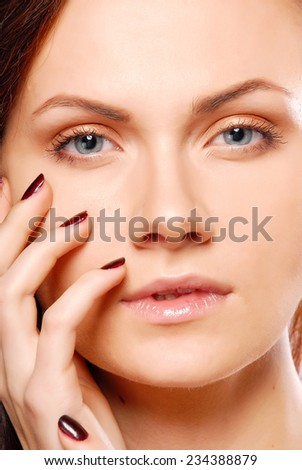 Glamour woman portrait - stock photo