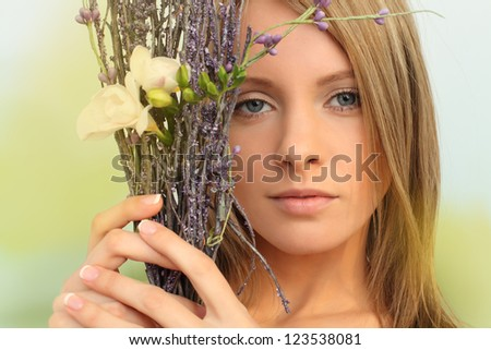 Glamour woman, spring fashion concept - stock photo
