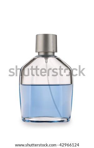 glases perfume bottle isolated - stock photo