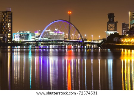 Glasgow Arc Bridge - stock photo