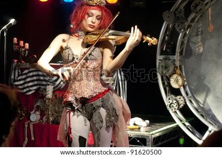 GLASGOW - MARCH 10: Emilie Autumn performs on March 10, 2010 in Glasgow, Scotland. - stock photo