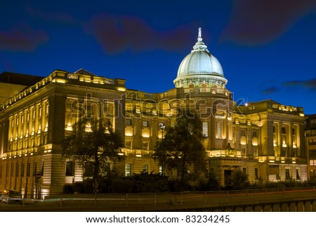 Glasgow Mitchell Library at Dusk - stock photo