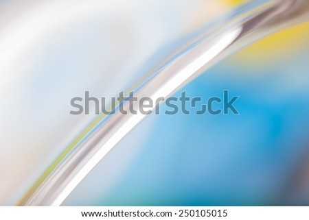 glass abstraction, thick glass close up background - stock photo