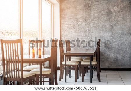 glass concrete wall interiors design restaurant stock photo royalty