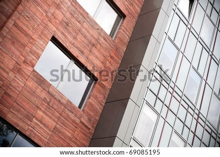 Glass and metal office building