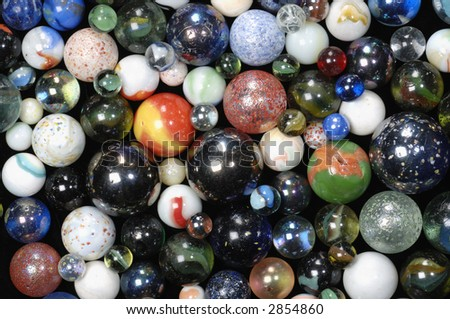 glass and porcelain balls pattern suitable as background or design