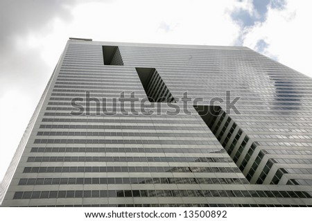 Glass and Steel Skyscraper in Downtown Houston, Texas(Release Information: Editorial Use Only. Use of this image in advertising or for promotional purposes is prohibited.) - stock photo