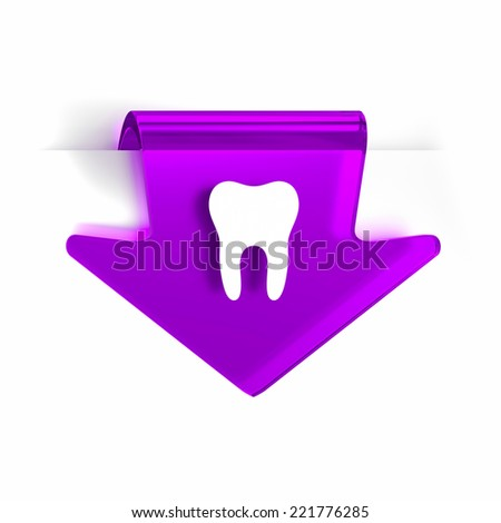 Glass arrow page marker icon with white health care sign or symbol - stock photo