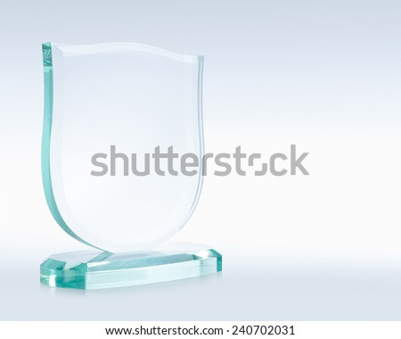 Glass award file includes a excellent clipping path - stock photo