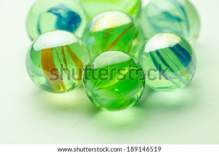 Glass balls and color inside
