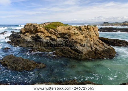 Glass beach. Fort Bragg, California. USA - stock photo