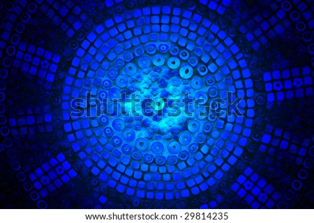 glass beads as abstract background - stock photo