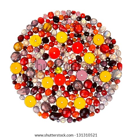 glass beads for beading and jewelry making - stock photo